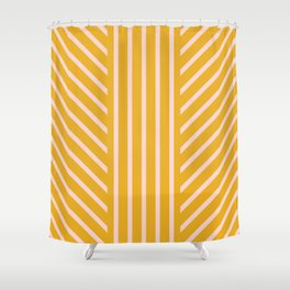Lined Marigold Shower Curtain