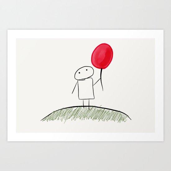 my red balloon Art Print