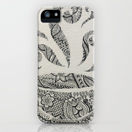 But first, Tea - tea coffee lover zentangle iPhone Case