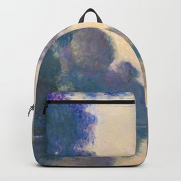"Claude Monet ""Morning on the Seine near Giverny"" Backpack"