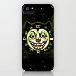 Black Cat 13 Halloween Clock iPhone Case