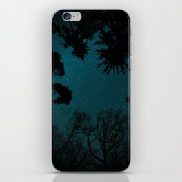 Tall Forest Trees Under a Starry Sky iPhone Skin
