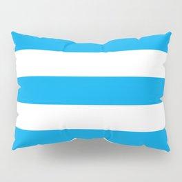 Microsoft blue - solid color - white stripes pattern Pillow Sham