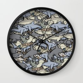 Save ALL Sharks! Wall Clock