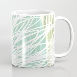 Doodle Flowers in Mint by Friztin Coffee Mug