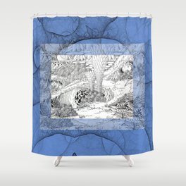 Alert Shower Curtain