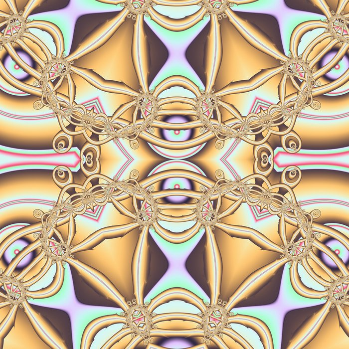 Elegant golden geometric kaleidoscope Leggings