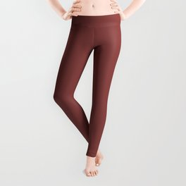 Pratt and Lambert 2019 River Rouge Brownish Red 4-18 Solid Color Leggings