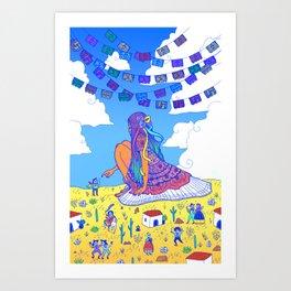 Adelita Y El Pueblo de Calaveras Art Print