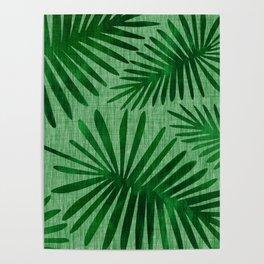 Emerald Retro Nature Print Poster