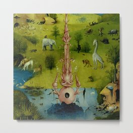 "Hieronymus Bosch ""The Garden of Earthly Delights"" - The Heaven or The Creation Metal Print"