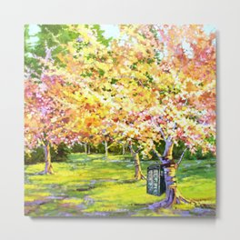 Tardis In The Season Blossom Metal Print