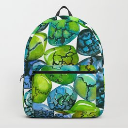 Turquoise pattern Backpack
