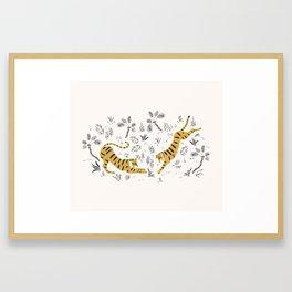 Tiger Dive Framed Art Print