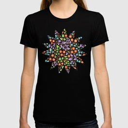 Filigree Floral smaller scale T-shirt