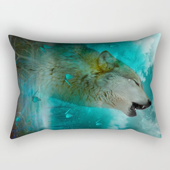 I'll See You In My Dreams (Cry of the Wolf) Rectangular Pillow