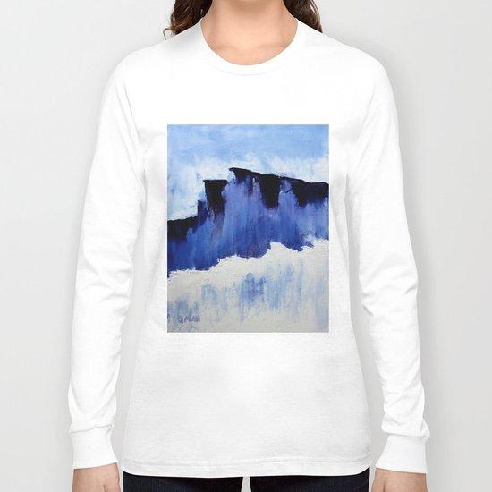 Cold Blue Long Sleeve T-shirt