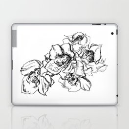 Flowers Line Drawing Laptop & iPad Skin