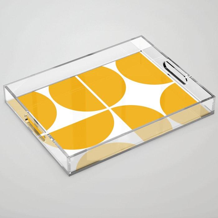 Mid Century Modern Yellow Square Acrylic Tray