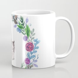 Squirrel and Wreath Watercolor Coffee Mug