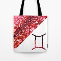 gemini Tote Bags featuring Gemini by haroulita