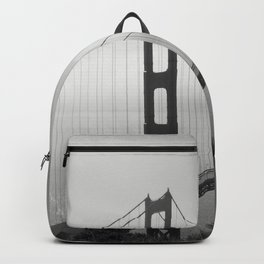 The Golden Gate Bridge In A Mist Backpack