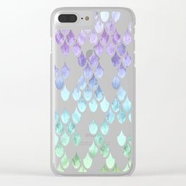 Pretty Mermay Scales 39 Clear iPhone Case