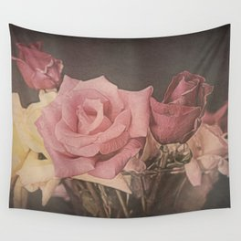 Vintage Roses Wall Tapestry