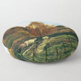 Autumn Landscape - Digital Remastered Edition Floor Pillow