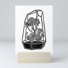 Terrarium Block Print Mini Art Print