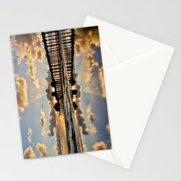HB Sunsets   11/25/15  ~  Sunset at the Huntington Beach Pier Stationery Cards