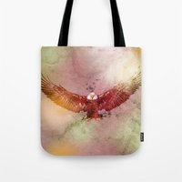 eagle Tote Bags featuring Eagle by ron ashkenazi