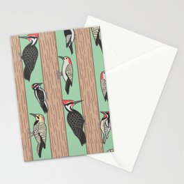 Woodpeckers Pecking Stationery Cards