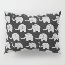 Midnight Elephant Parade Pillow Sham
