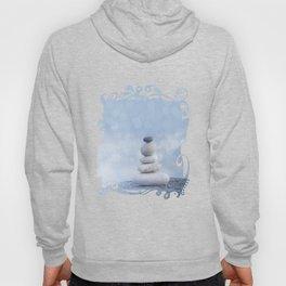 Balanced Zen Pebble Stack Blue Light Hoody