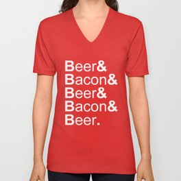 Beer and Bacon Unisex V-Neck
