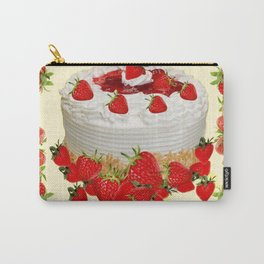 DELICIOUS STRAWBERRY  PARTY CAKE DESSERT Carry-All Pouch