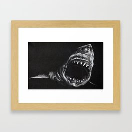 Man-Eater Framed Art Print