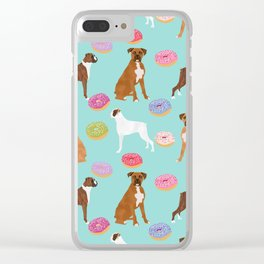 Boxer donuts cute gifts for pure breed dog lover Boxers dog owners Clear iPhone Case