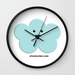 Cute Kawaii Cloud Wall Clock