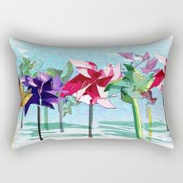 Contrary Mary's Garden Rectangular Pillow
