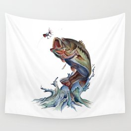 Bass Fish Wall Tapestry
