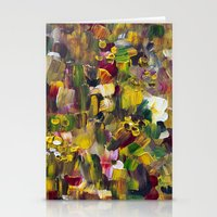 gustav klimt Stationery Cards featuring Fantasy about Gustav Klimt by Lucid Infinity Art and Design