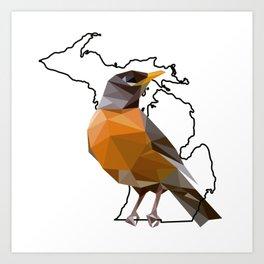 Michigan – American Robin Art Print