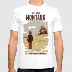 Montauk White Mens Fitted Tee MEDIUM