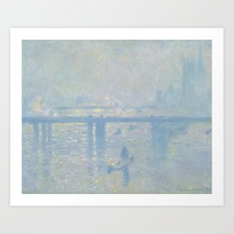 Charing Cross Bridge by Claude Monet Art Print