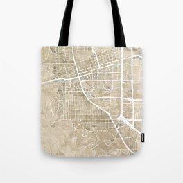 Boulder Colorado Watercolor Map Tote Bag