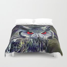 The Great Horned Owl Duvet Cover