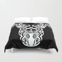 warrior Duvet Covers featuring Warrior by Boz Designs