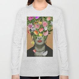 Frida Floral (Orange) Long Sleeve T-shirt